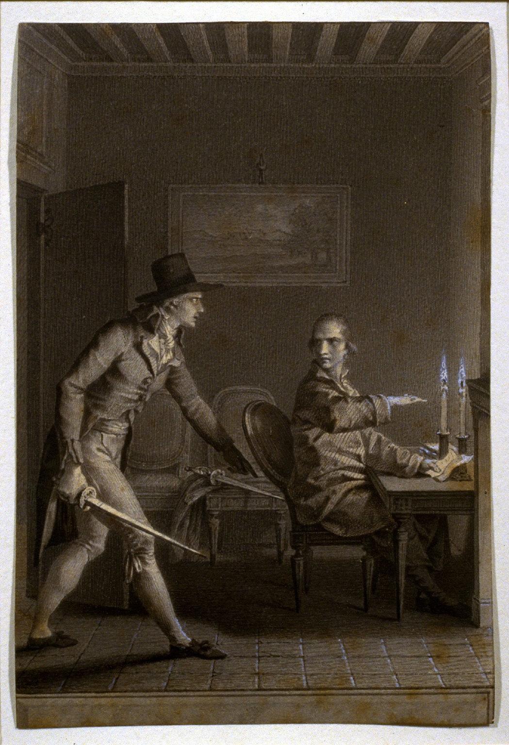 """""""Je ne me bats point contre un insensé,"""" from Jean-Jacques Rousseau's La Nouvelle Héloise (1804)"""