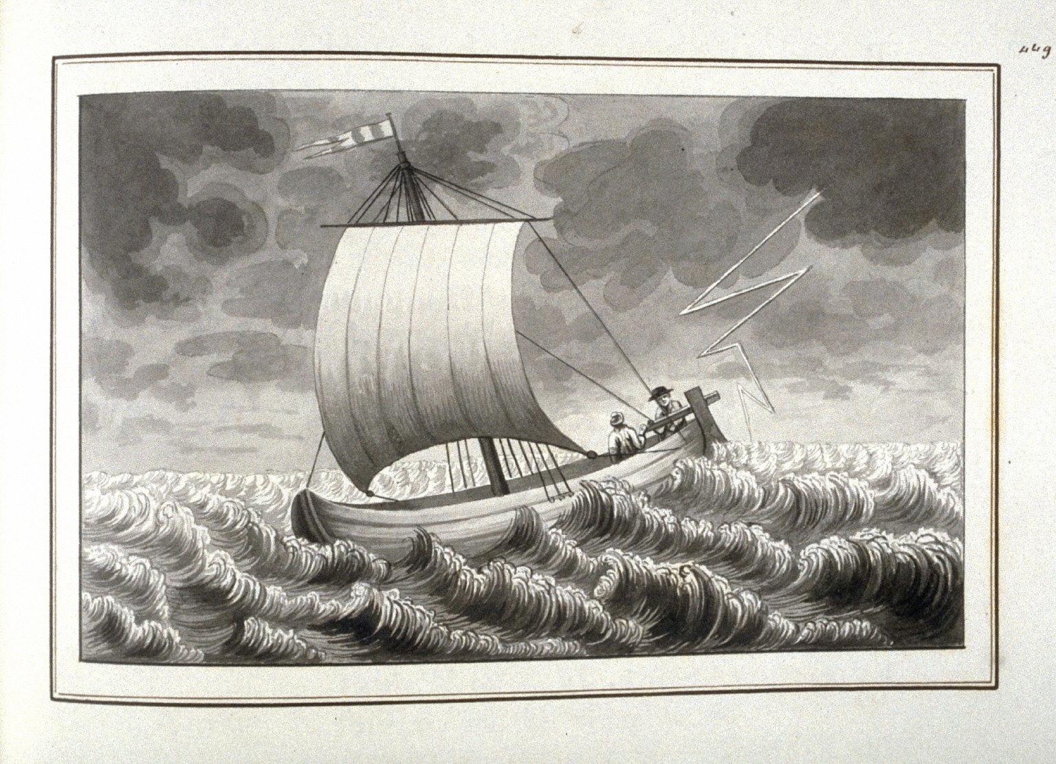 Le naufrage de Thérèse, page 449 of the book, Mon passe-tems dédié à moi-même , vol.2
