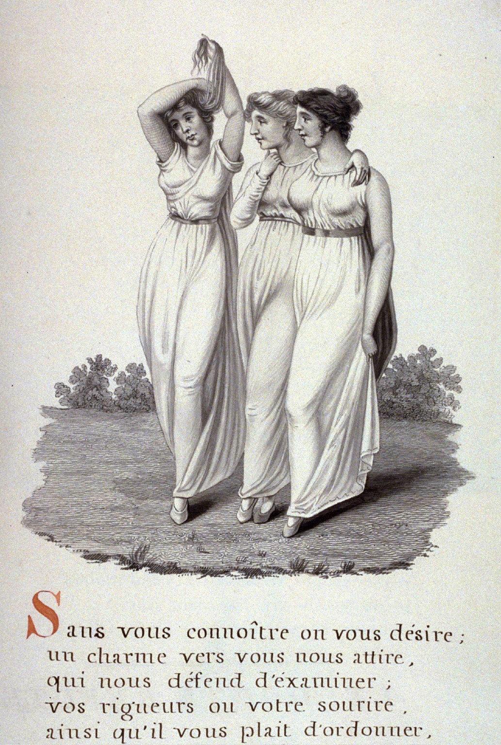 Untitled (three young women), page 505 of the book, Mon passe-tems dédié à moi-même , vol.2