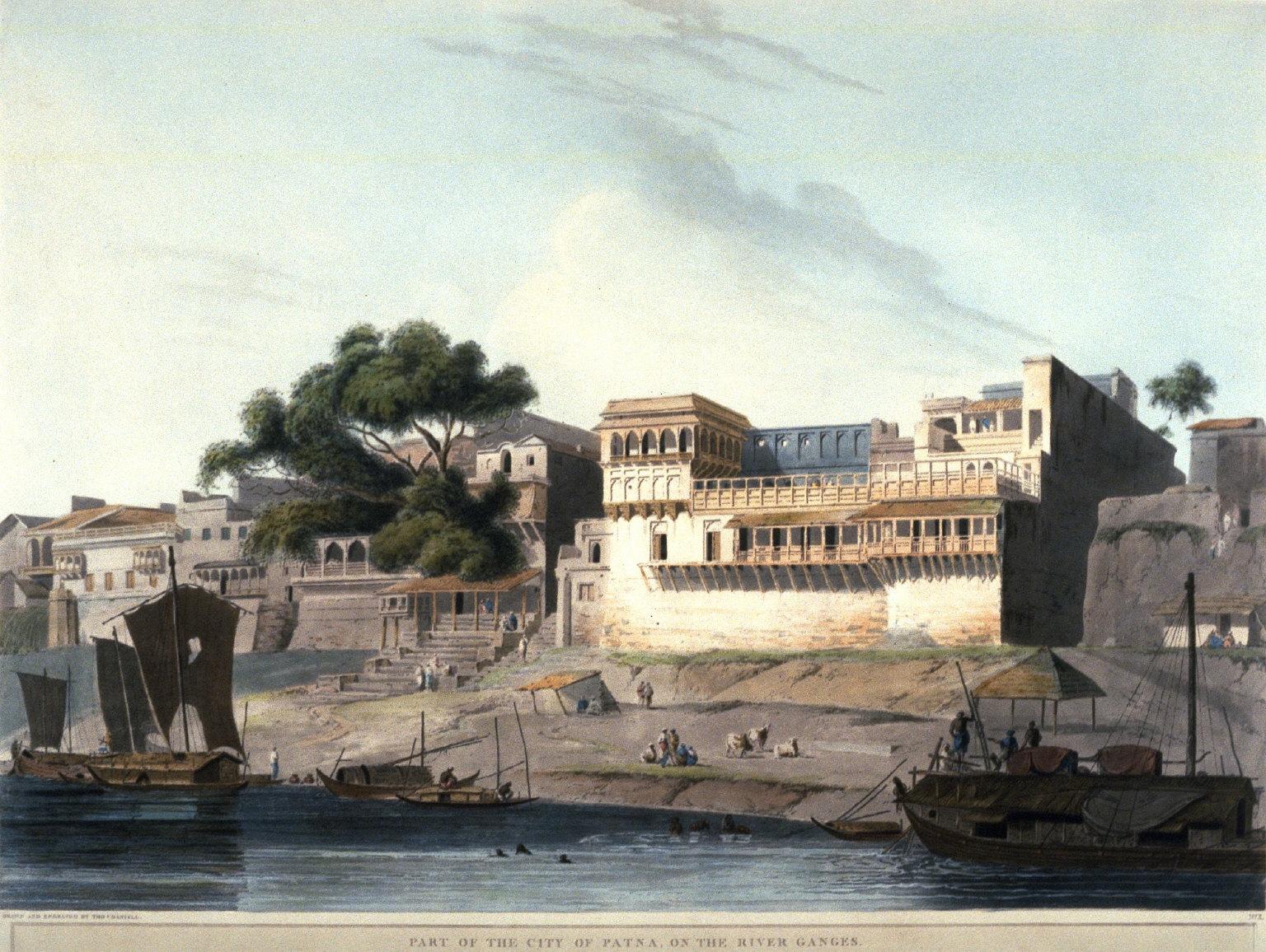 City of Patna on River Ganges
