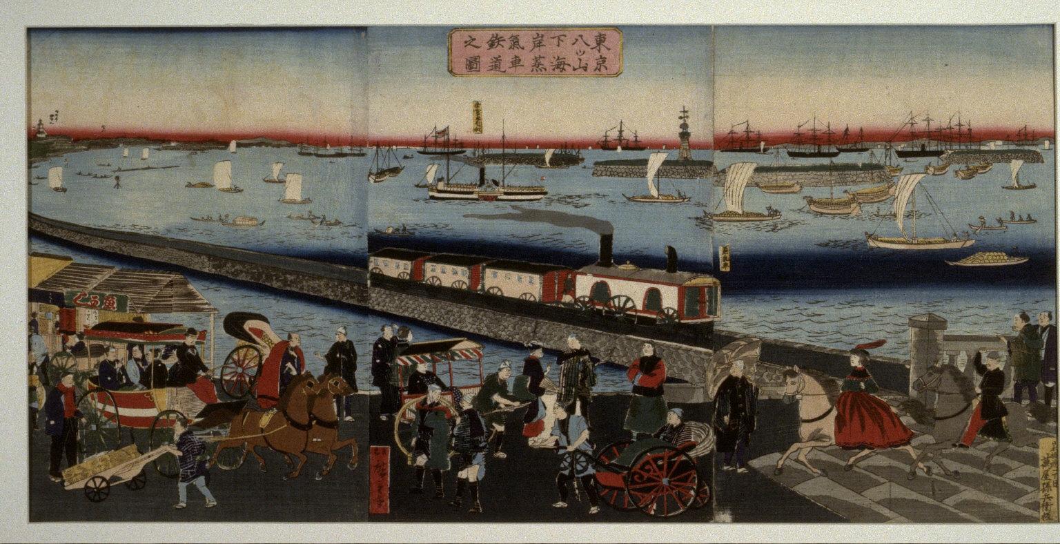 Steamd Train at Yatsunoyama in Tokyo