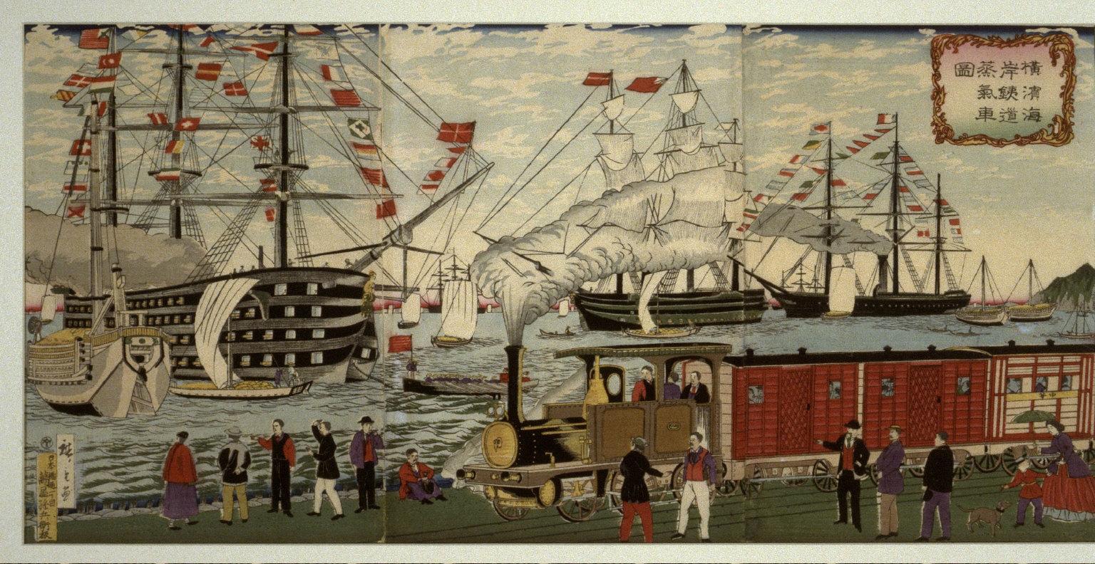 Railroad on the Yokohama Wharves