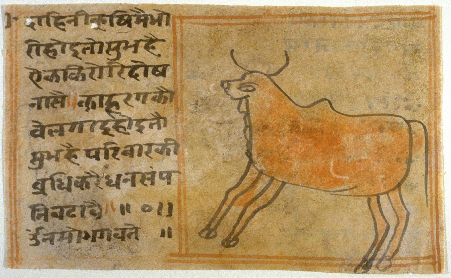 Untitled (cow),fragment on the verso side of a manuscript page
