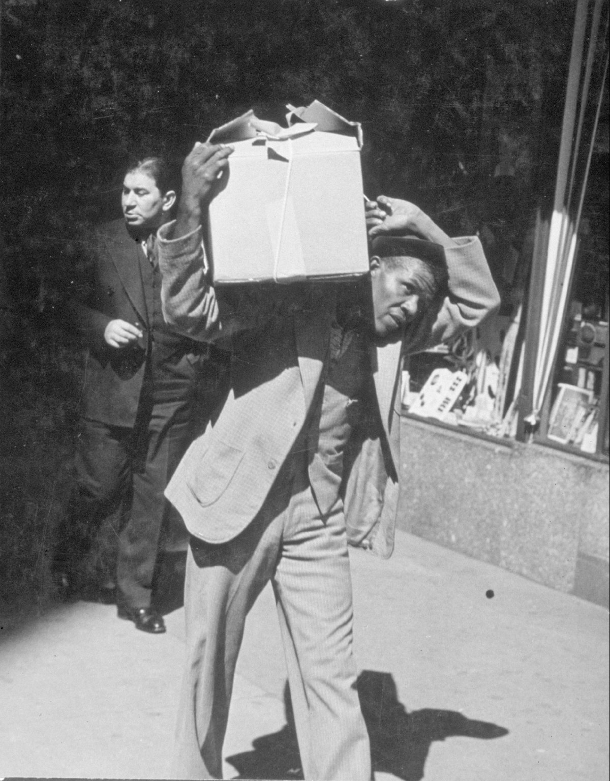 Man walking with package