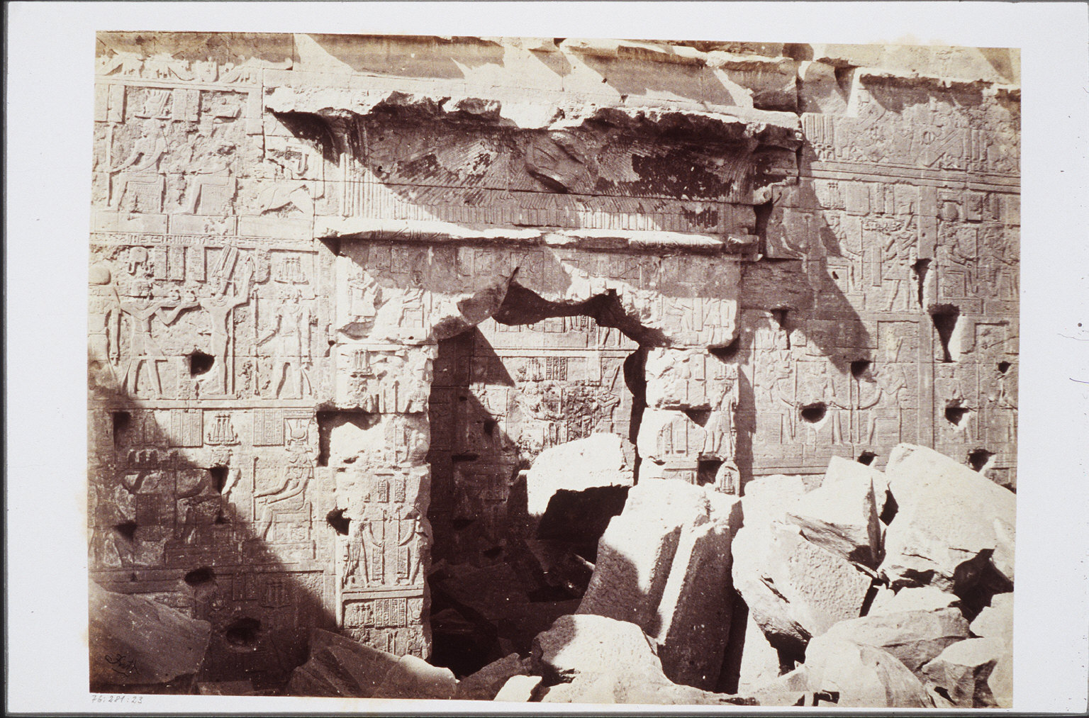 Doorway in the Temple of Kalabshe, Nubia