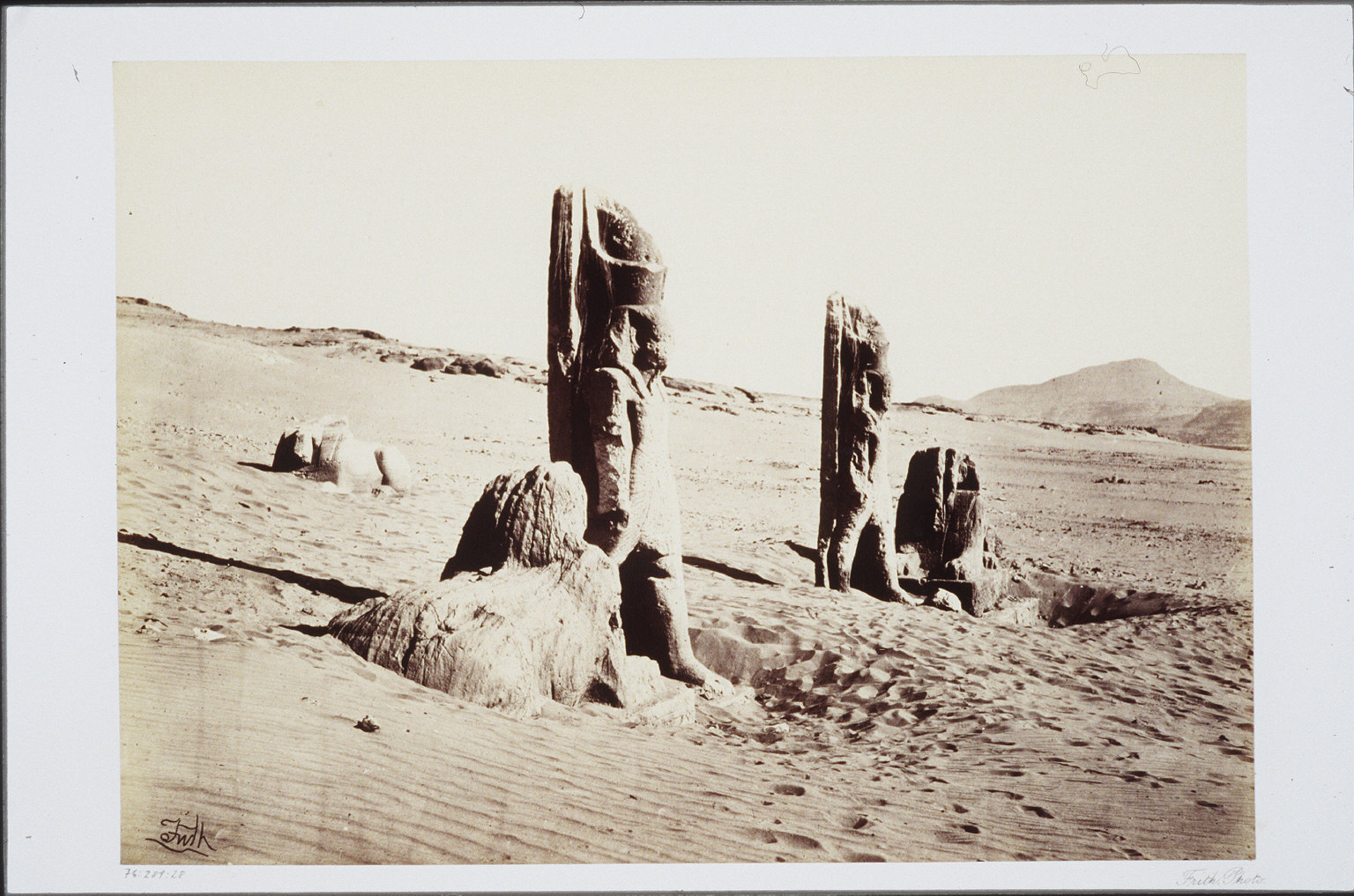 Colossi and Sphynx at Wady Saboua- Nubia
