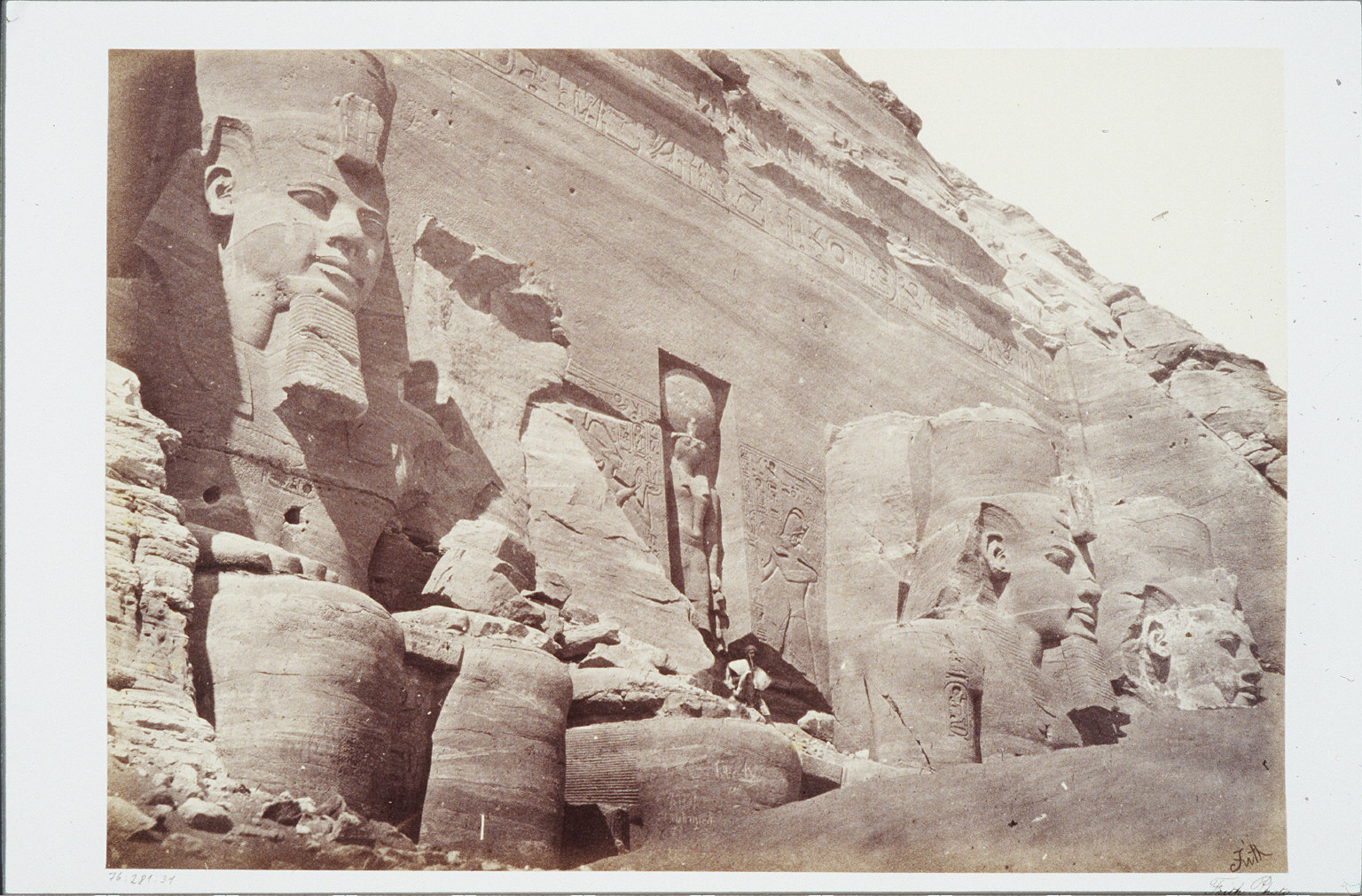 Facade of the Temple, Abou Simbel, Nubia- From the East