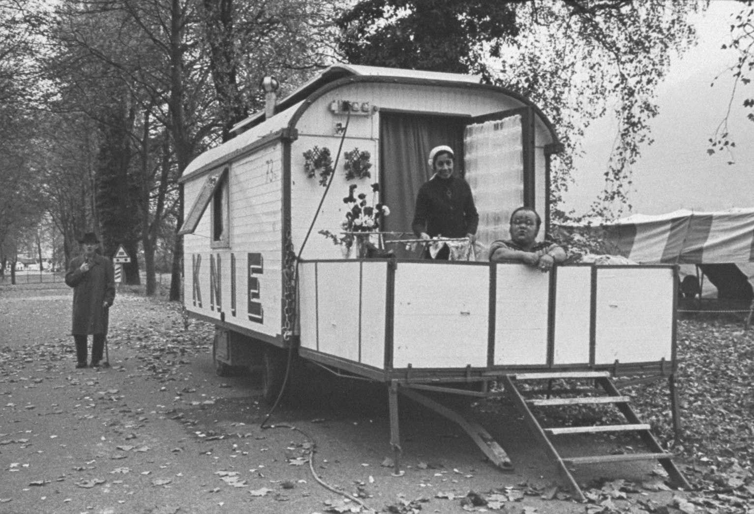 Circus Performers in Trailer-Circus Knie