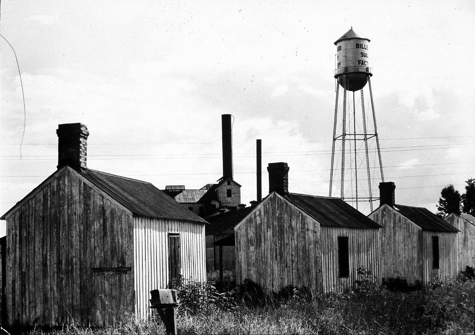 Workers' houses at the Billeaud Sugar Factory at Broussard, Louisiana