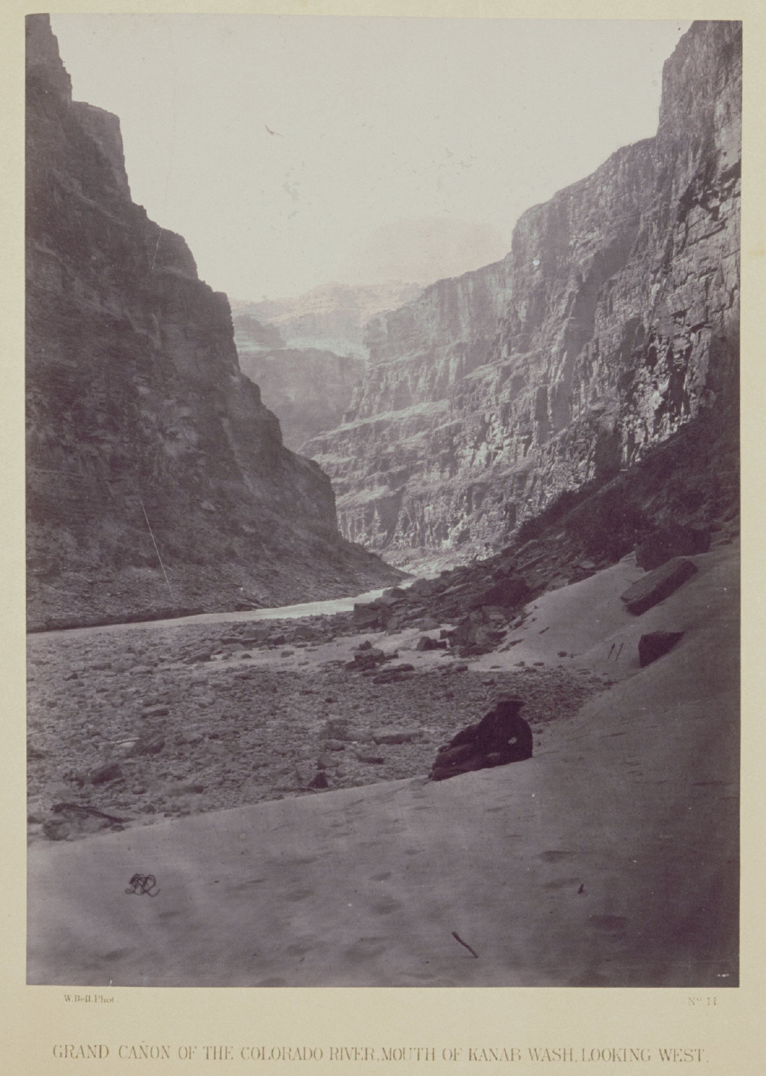 Grand Canon of the Colorado River, Mouth of Kanab Wash Looking West.