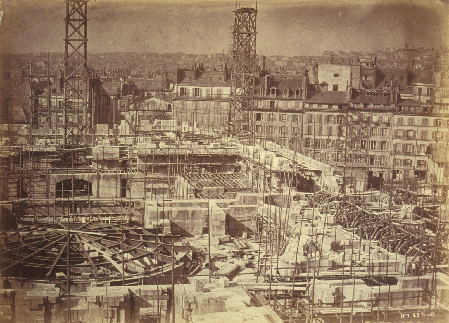 General view of construction site, Paris Opera