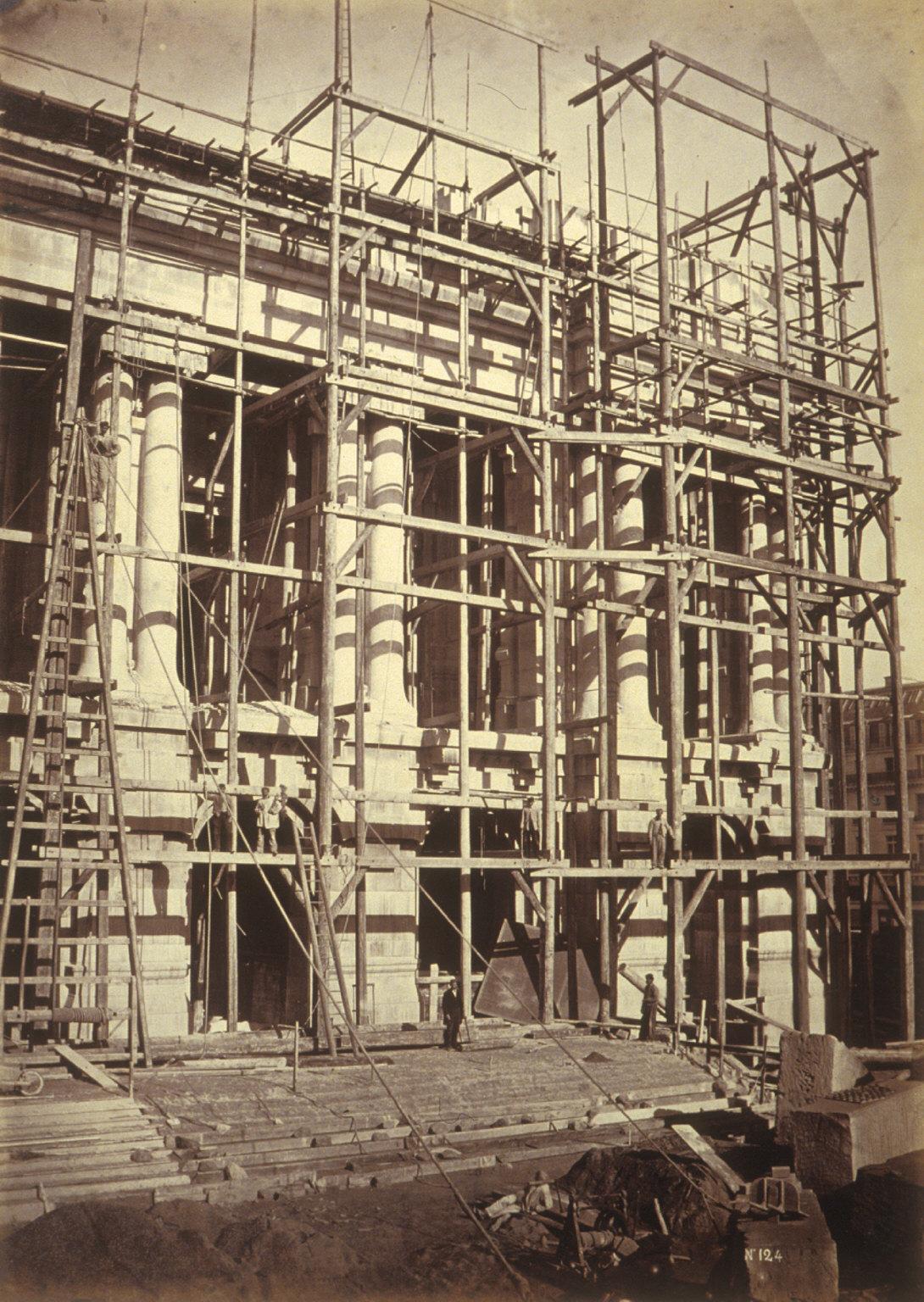 Scaffolding, construction of Paris Opera