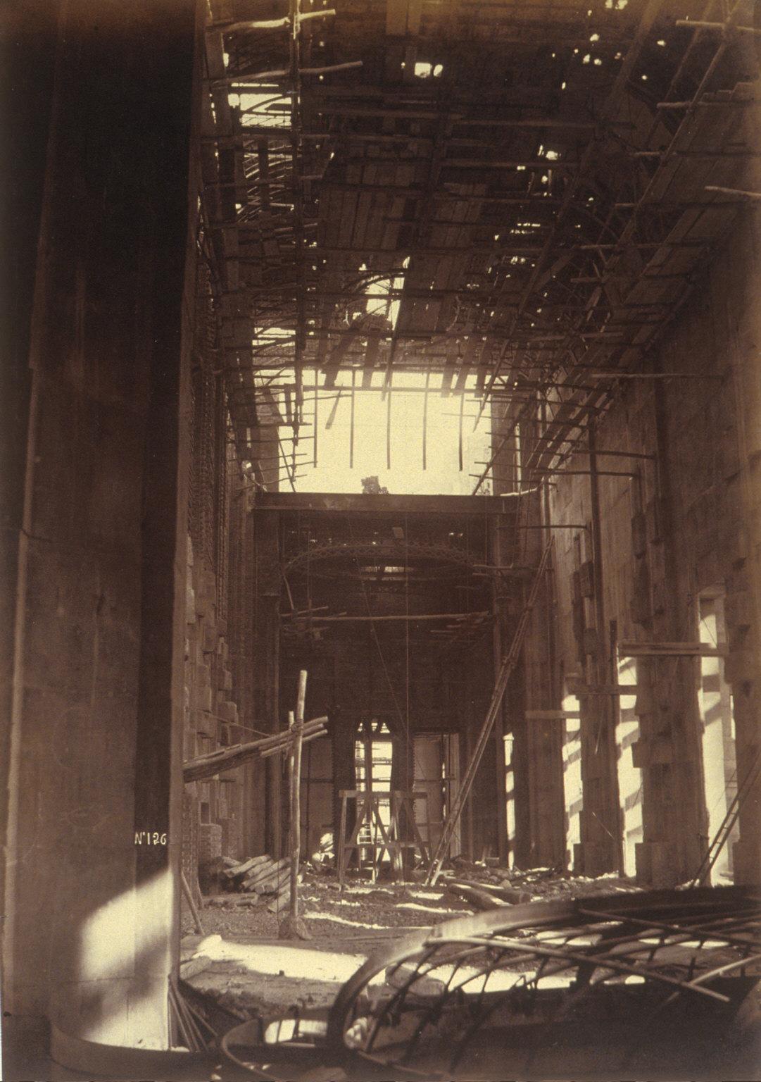 Interior view, construction of Paris Opera