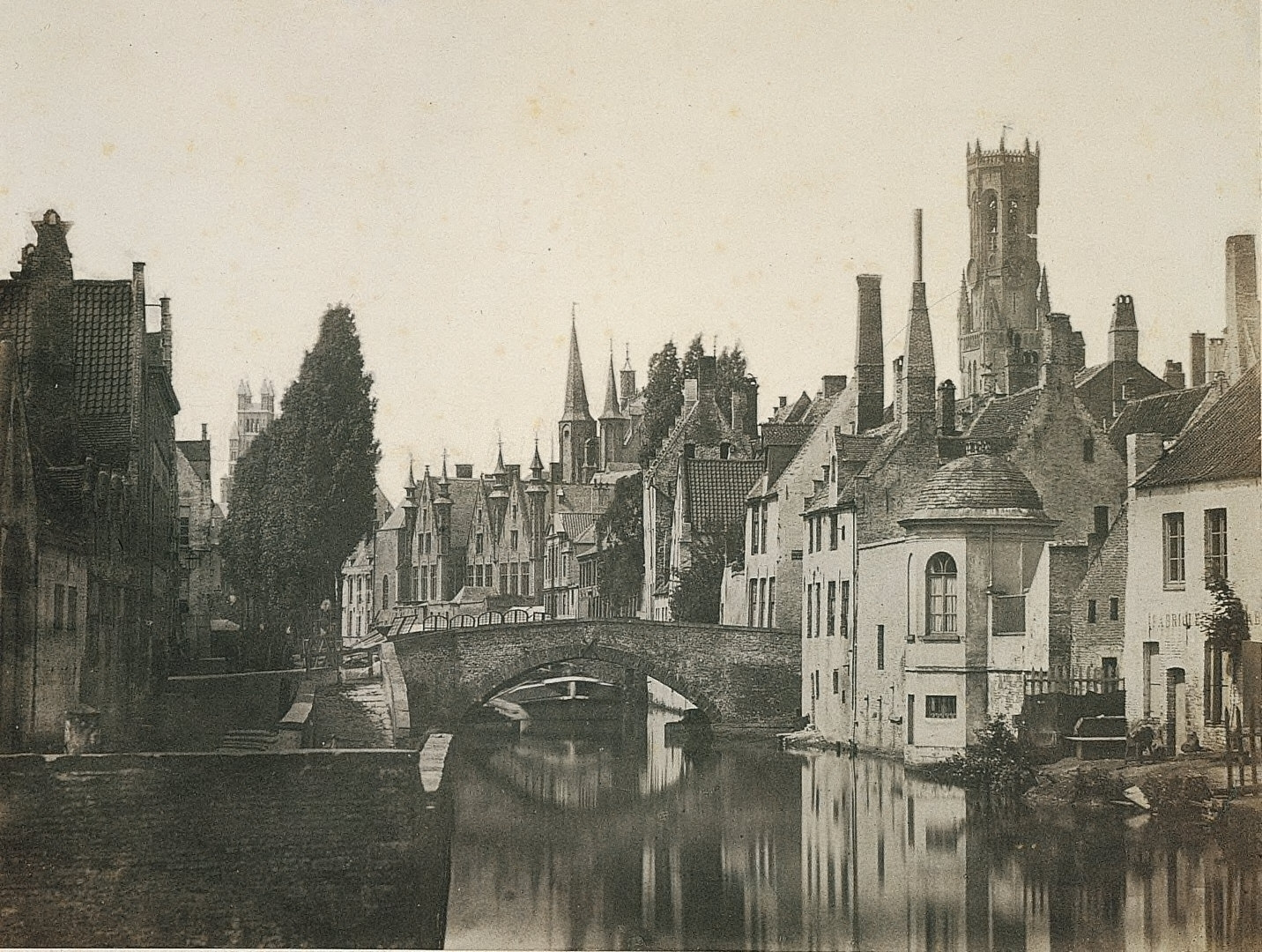 Lateral View of the Franc de Bruges taken from the Pont du Moulin