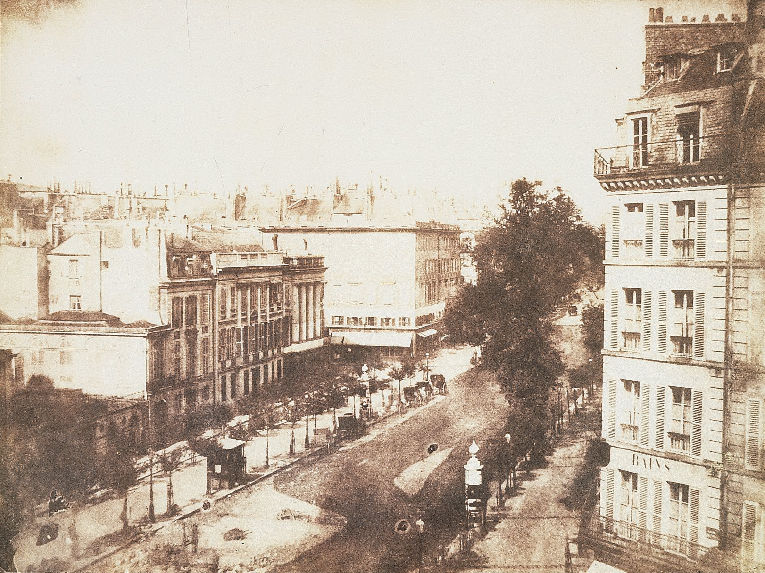 View of the Boulevards at Paris