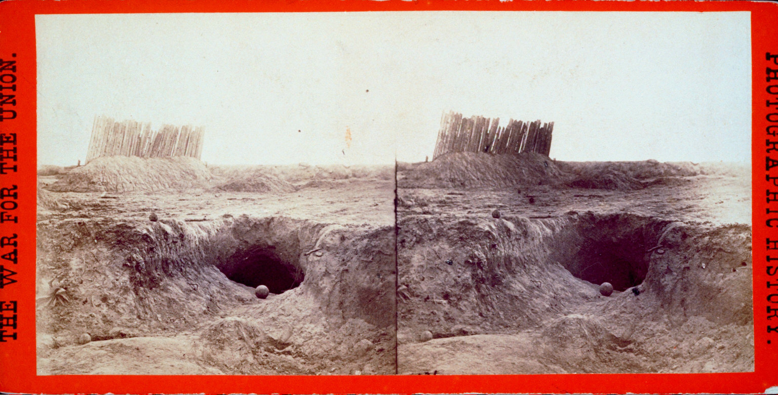 Fortifications and bomb-proofs, in front of Petersburgh, Va.