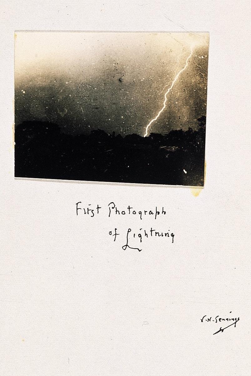 First Photograph of Lightning