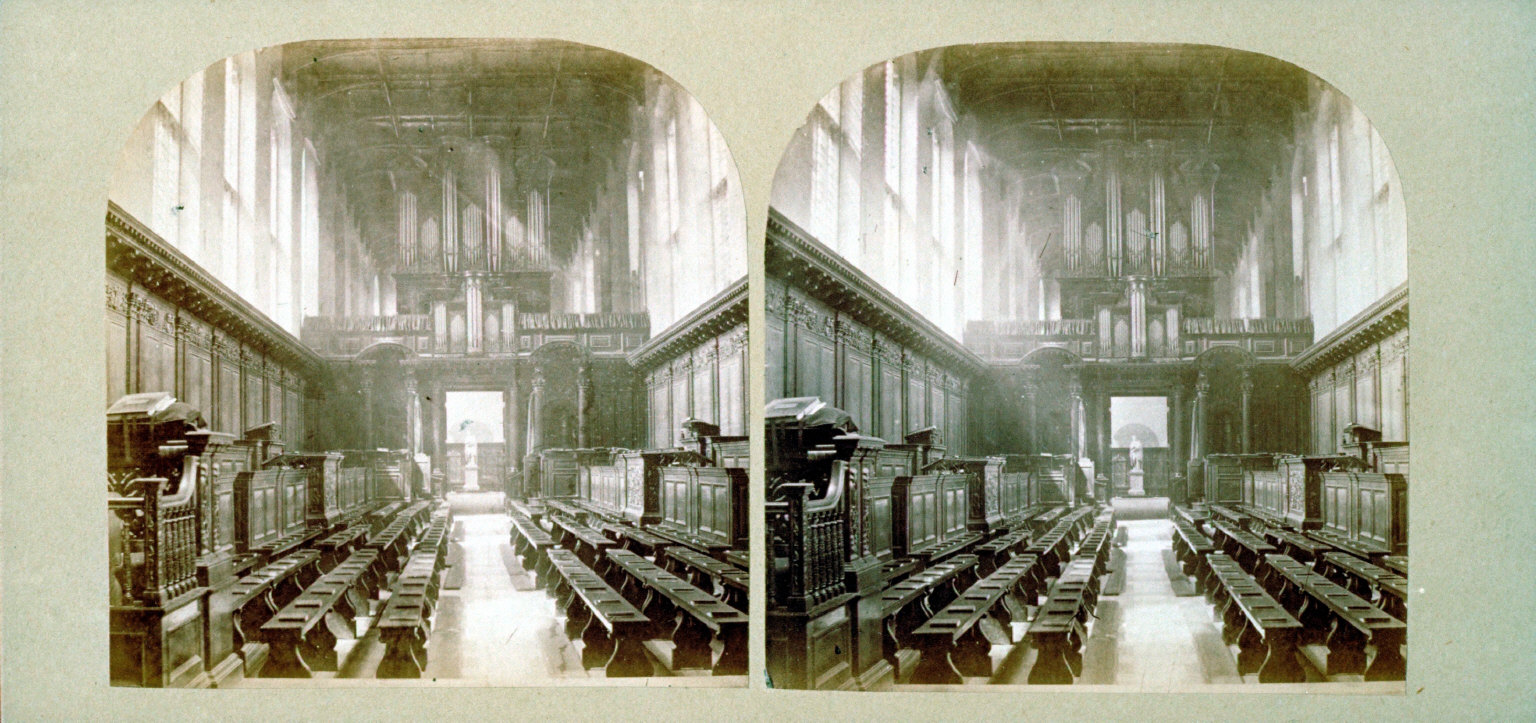 Interior of the Trinity College Chapel, Cambridge