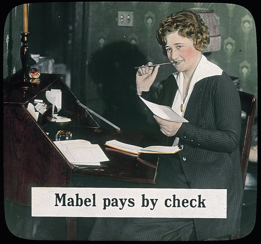 Mabel Pays By Check
