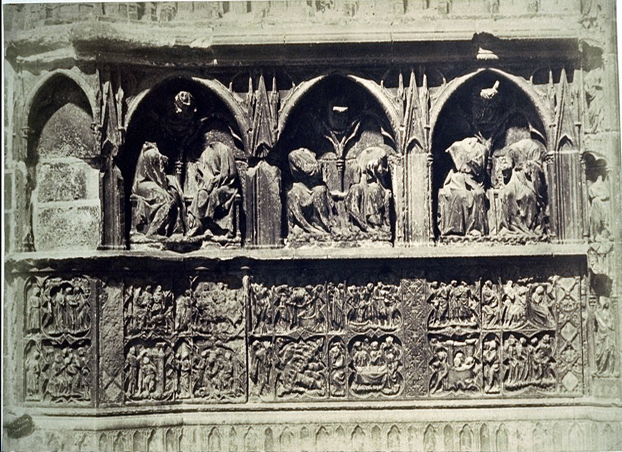 Auxerre Cathedral (?), detail, relief sculpture