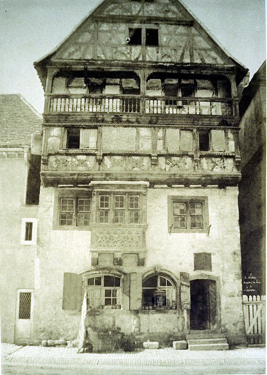 Saverne, house in wood