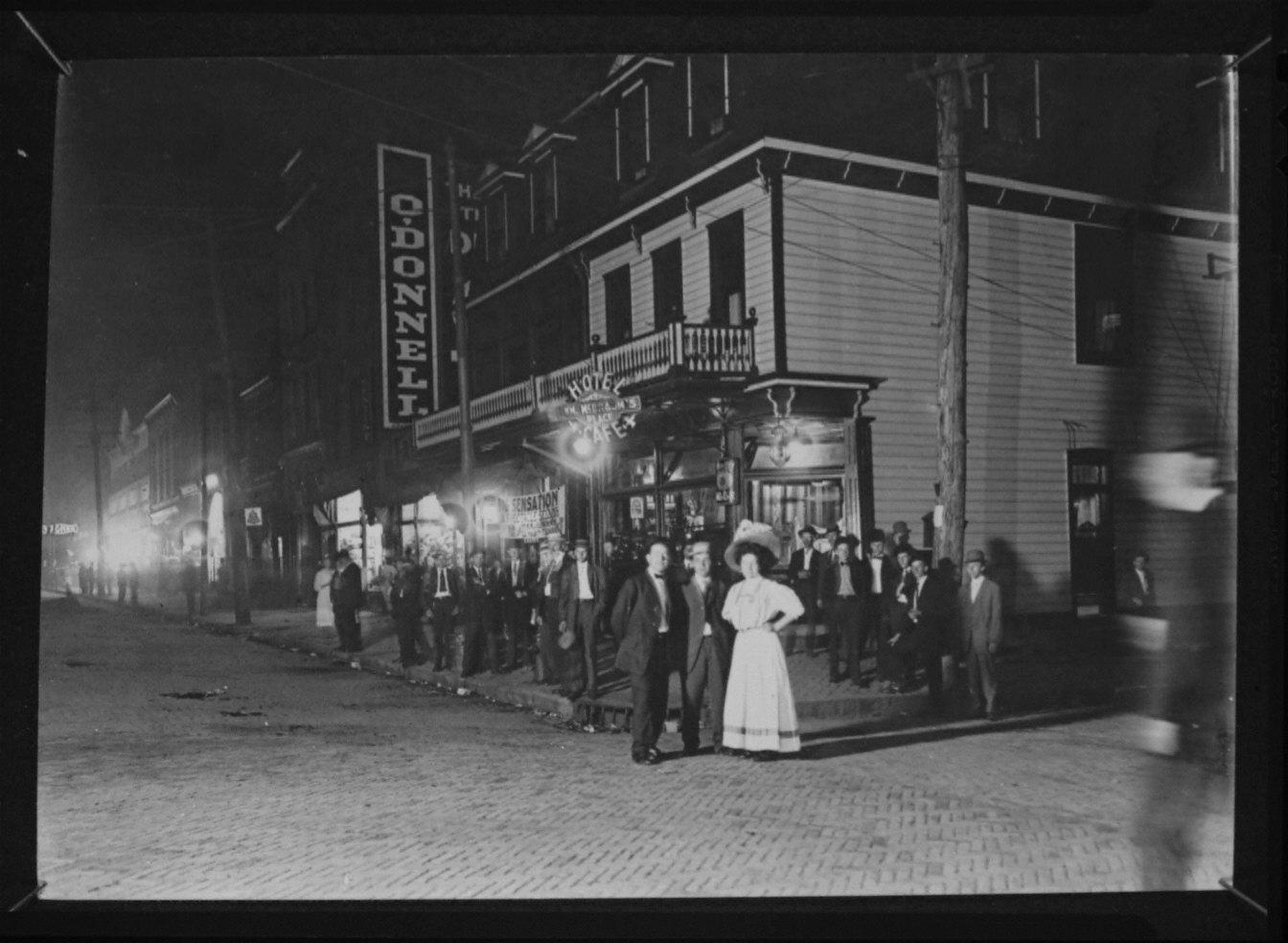 Night-Life...Western PA 1908/Homestead-Midnight