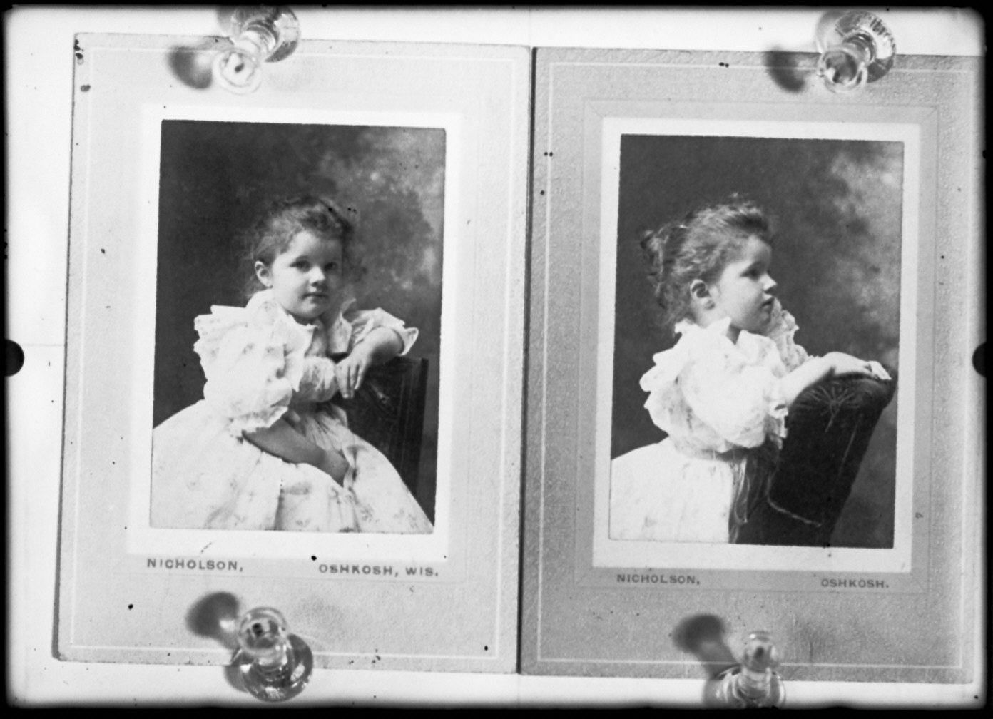 Dorothy Daine, 2 Years 8 Months Old/ (Two Images On One Plate)