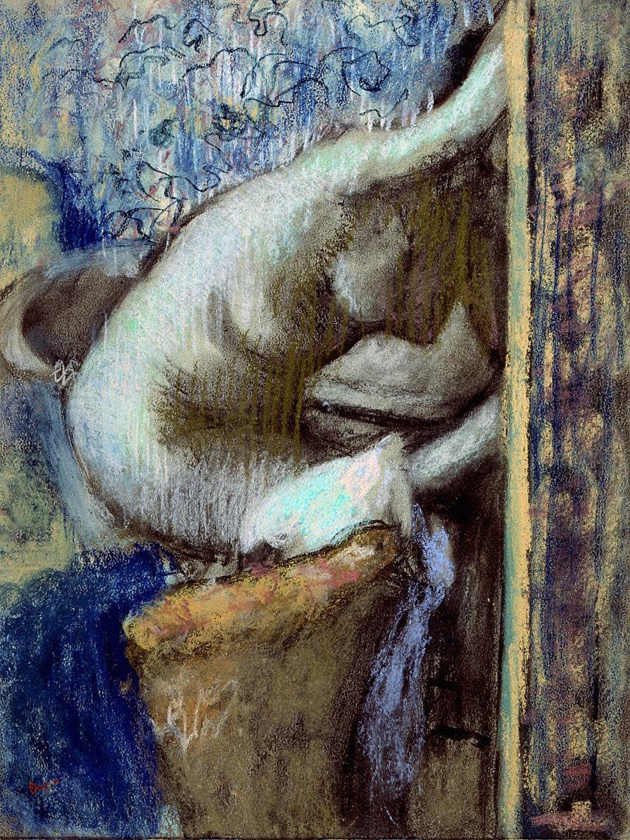 Woman Drying Herself