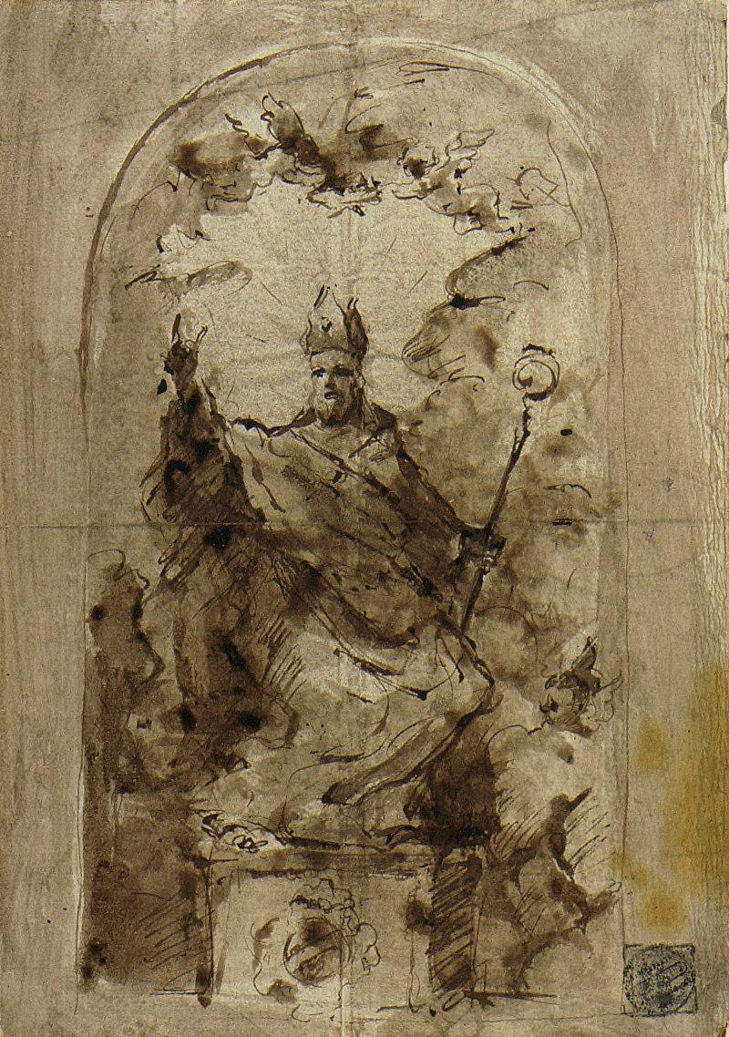 Study of a Bishop Saint [Saint Nicholas of Bari?]