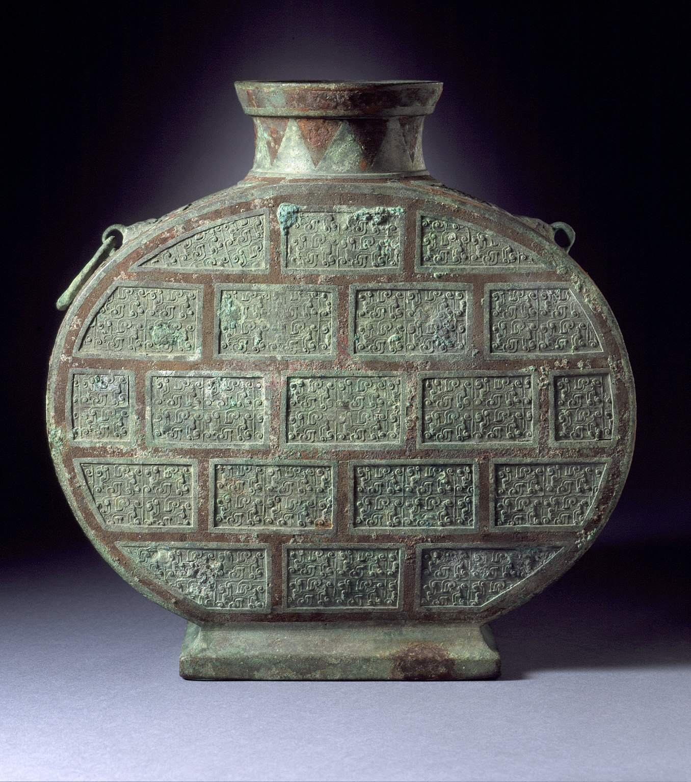 Wine Flask (Bianhu) with Spirals and Volutes