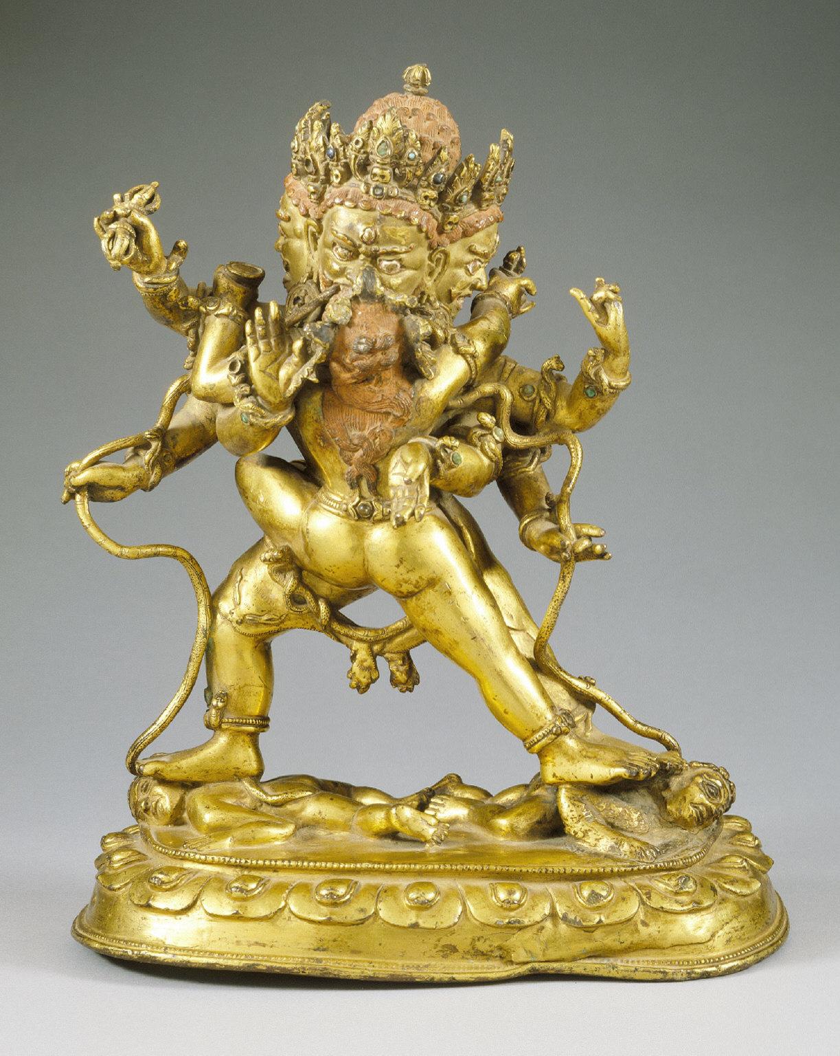 The Boddhisattva Vajrapani (Tibetan: Chana Dorje) and His Consort