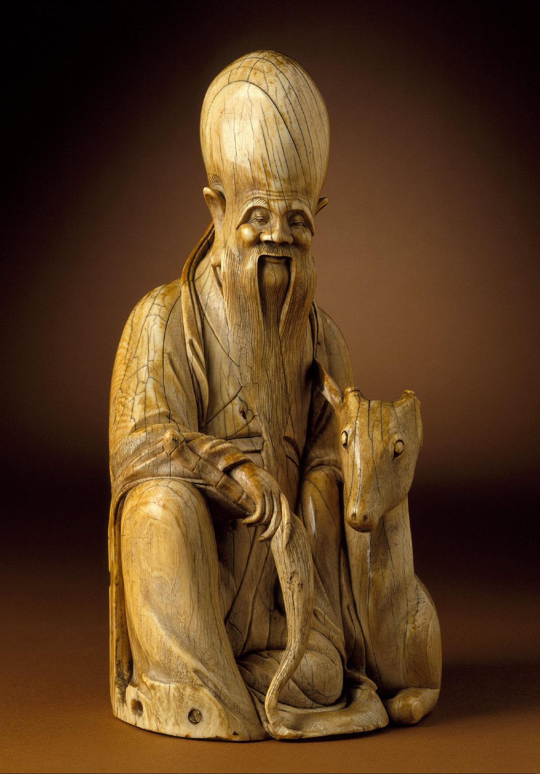 God of Longevity (Shoulao) with a Deer