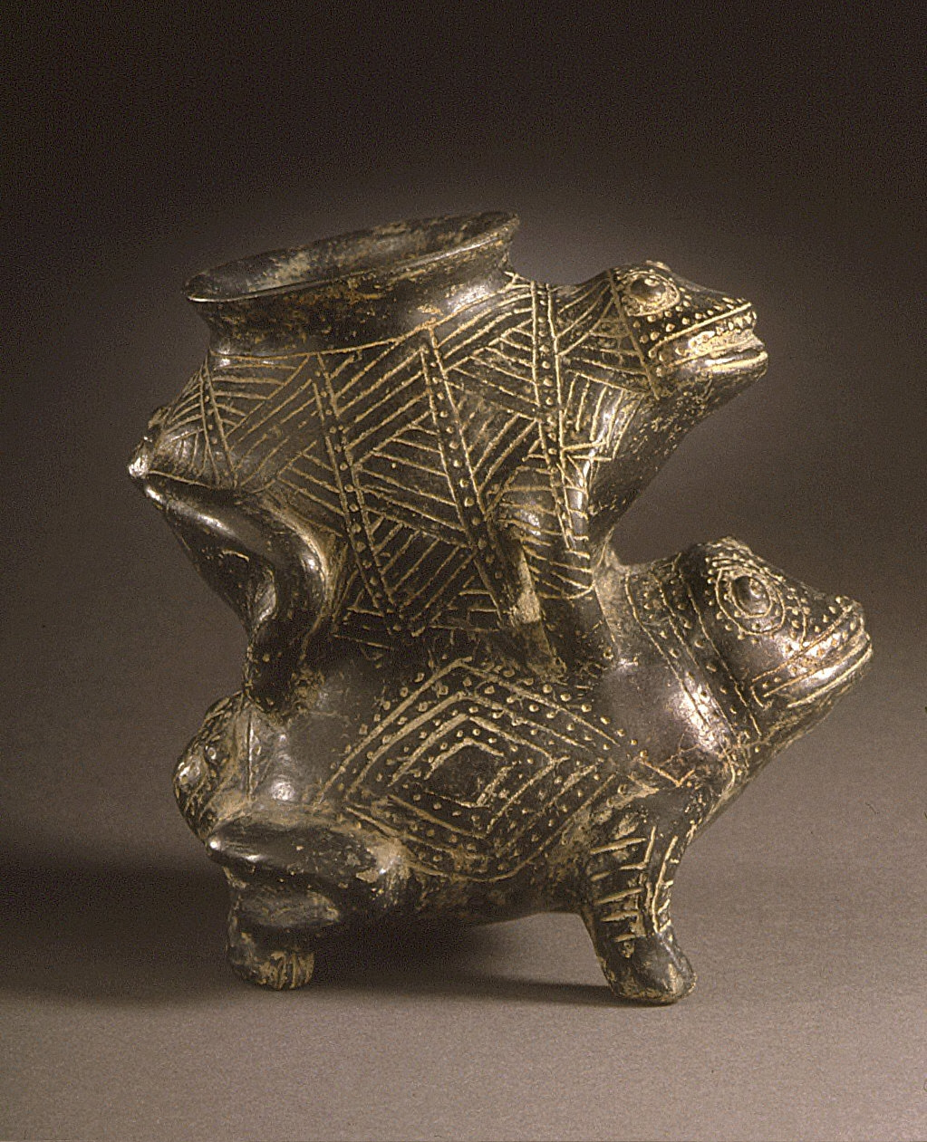 Vessel in the Form of Joined Frogs