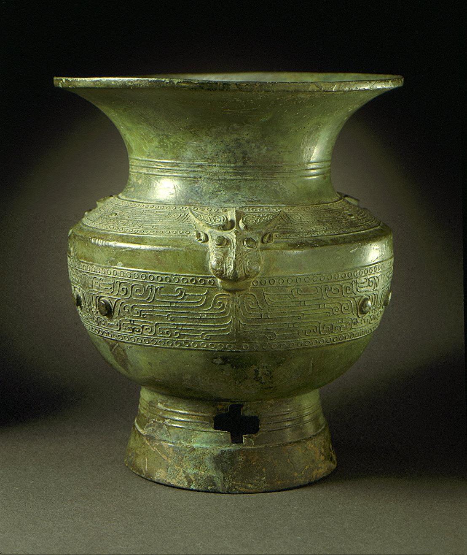 Ritual Wine Storage Jar (Zun) with Masks, Dragons, and Bovine Heads