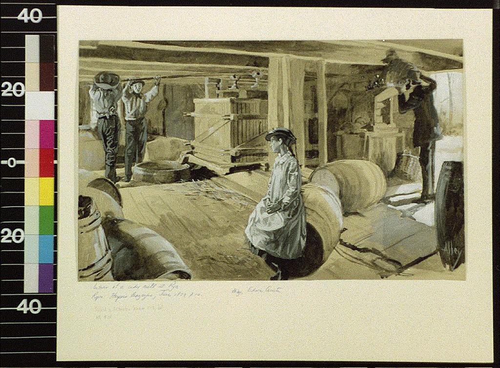 Interior of a cider mill at Rye