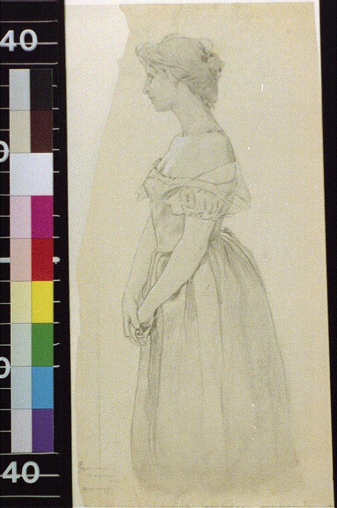 Standing figure of woman