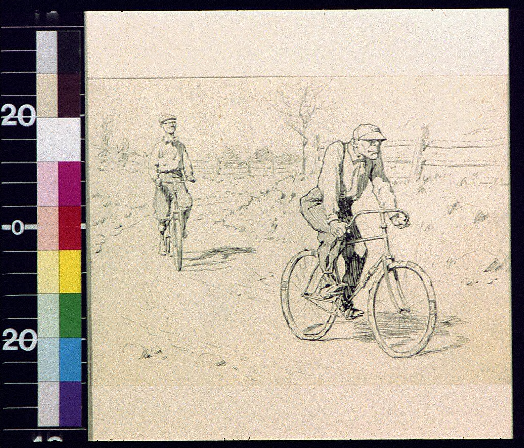Men on bicycles