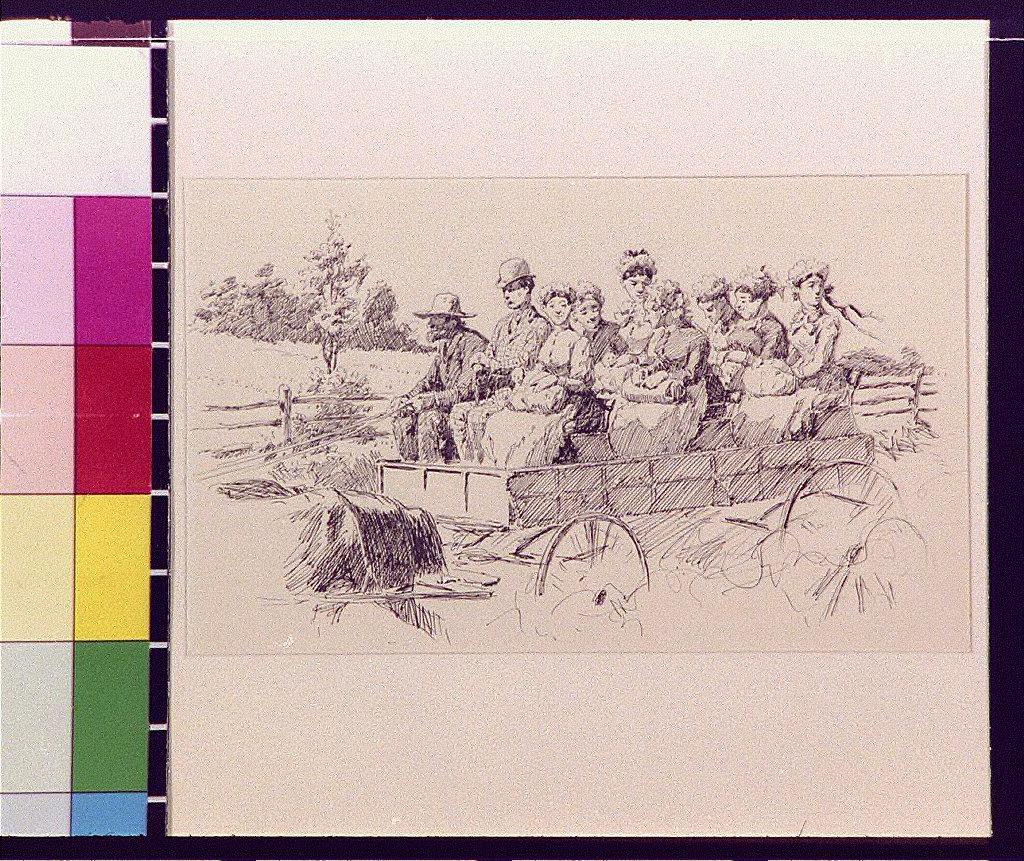 A wagon-load of nurse maids