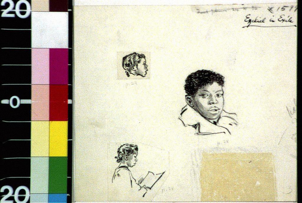 Black children's faces