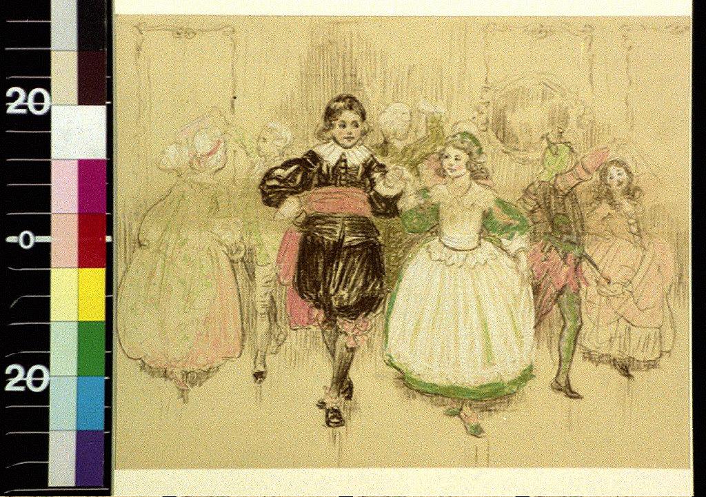 Children in costume dancing