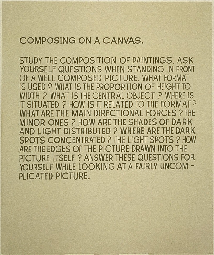 Composing on a Canvas