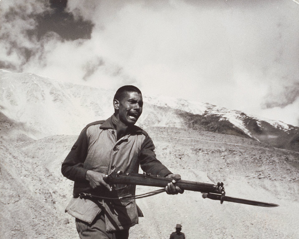 Indian Soldier at Himalaya Front of Ladakh