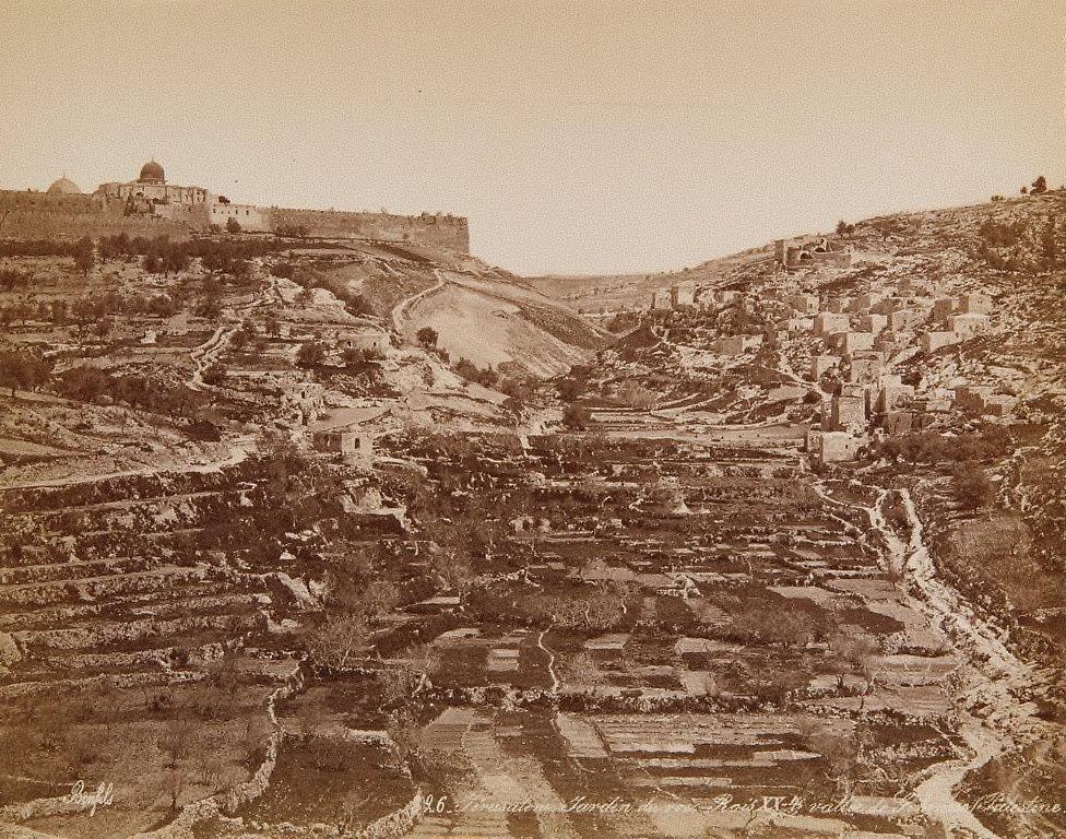 Gardin du roi, Rois XX-4, vallée de Gehenne, Jerusalem, Palestine