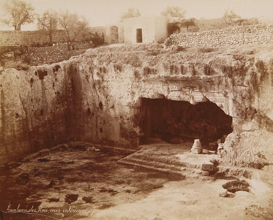Tombeau des Rois, cour interieure, Jerusalem
