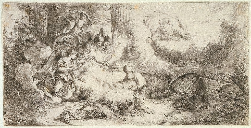 The Nativity with God the Father and Angels