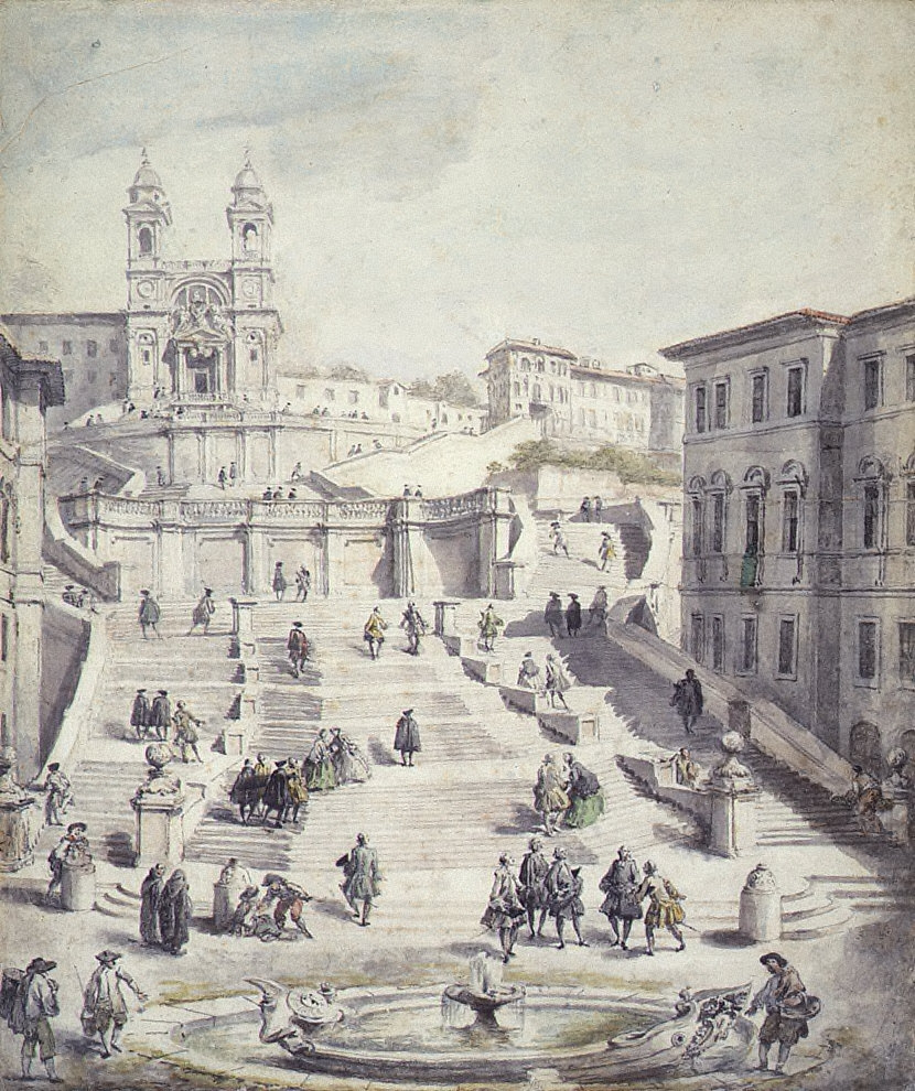View of the 'Spanish Steps,' Rome