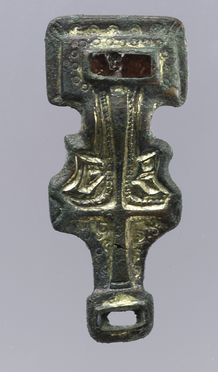 Pair of Miniature Square-Headed Brooches