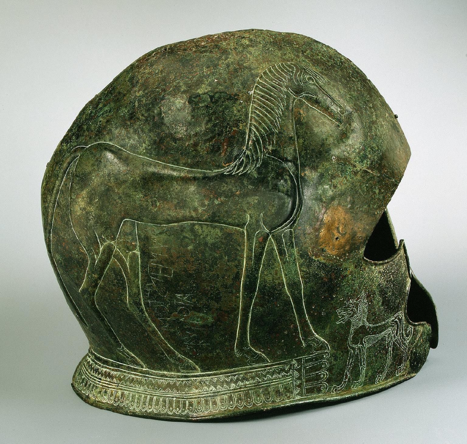 Two helmets
