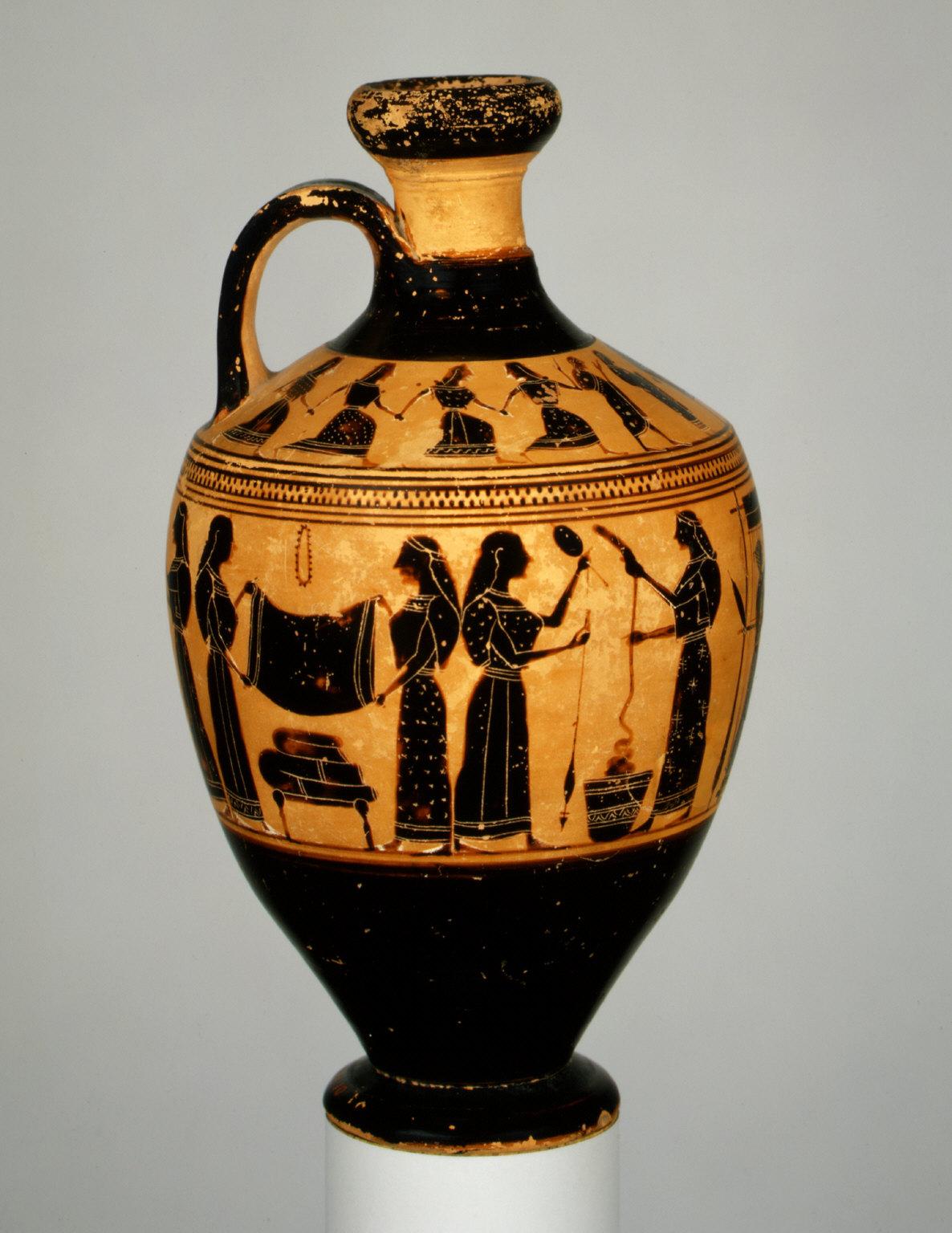 Lekythos (oil flask)