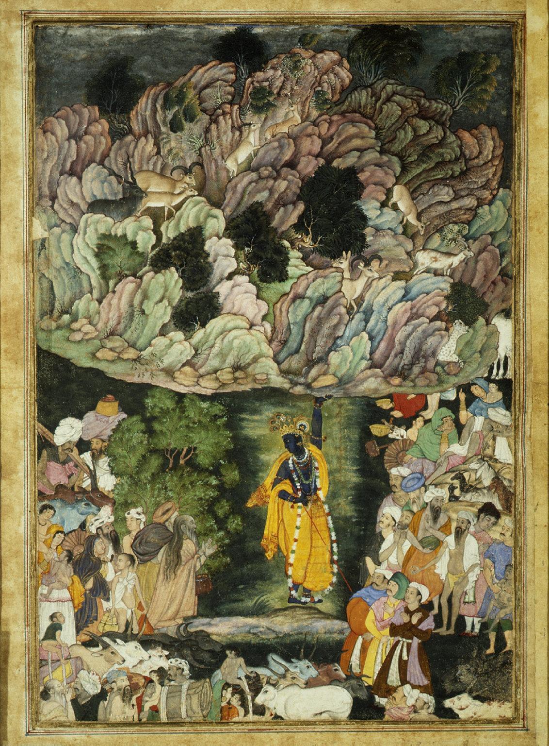 Leaf from a Harivamsa Manuscript, The Legend of Hari (Krishna)